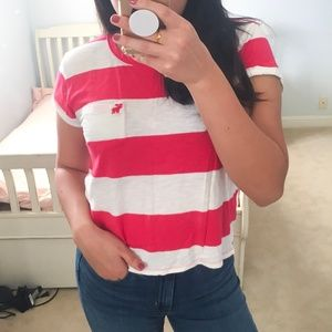 Abercrombie & Fitch Striped Tee (L)